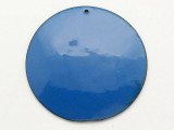 Enameled Copper Disc - Indigo Blue 50mm (EC315)