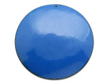 Enameled Copper Disc - Indigo Blue 62mm (EC316)