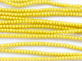 Yellow White Heart Trade Beads 3-4mm (AT3772)