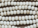 Antiqued Irregular Round Bone Beads 8mm (B9023)