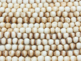 Antiqued Irregular Round Bone Beads 4-5mm (B9021)