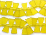 Chartreuse Yellow Trapezoid Resin Beads 24mm (RES61)