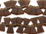 Brown Trapezoid Resin Beads 24mm (RES71)