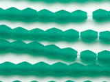 Emerald Green Bicone Resin Beads 11mm (RES83)