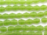 Lime Green Faceted Bicone Resin Beads 14mm (RES135)