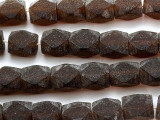 Brown Faceted Resin Beads 17-18mm (RES189)