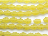 Chartreuse Yellow Faceted Bicone Resin Beads 14mm (RES139)