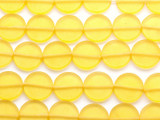 Yellow Round Tabular Resin Beads 19mm (RES42)