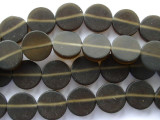Brown Round Tabular Resin Beads 15mm (RES251)