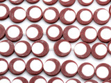 Reddish Brown & White Resin Beads 16mm (RES58)