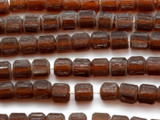 Brown Faceted Pentagon Resin Beads 9mm (RES362)
