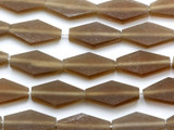 Taupe Diamond Tabular Resin Beads 26mm (RES372)