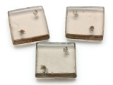 Brown Square Recycled Glass Bead - Pendant - Indonesia (AP466)