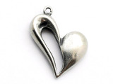 Open Heart - Pewter Pendant (PW262)