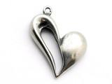 Open Heart - Pewter Pendant (PW262)