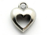 Open Heart - Pewter Pendant (PW269)