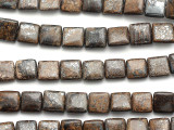 Bronzite Square Tabular Gemstone Beads 10mm (GS1226)