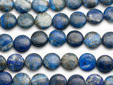 Lapis Lazuli Round Tabular Gemstone Beads 15mm (GS1181)