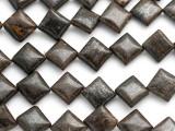 Bronzite Diamond Tabular Gemstone Beads 10mm (GS1224)