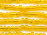 Crow Beads - Transparent Yellow Glass 9mm (CROW21)