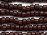 Crow Beads - Dark Red Brown Glass 9mm (CROW22)
