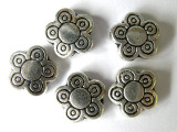 Silver Tone Flower Bead 10mm (ST30)