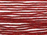 Red Bamboo Coral Round Beads 2-3mm (CO96)