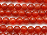 Carnelian Round Faceted Gemstone Beads 8mm (GS1232)