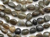 Brown Labradorite Nugget Gemstone Beads 5-15mm (GS1269)