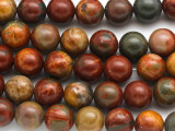 Red Creek Jasper Round Gemstone Beads 10mm (GS1318)