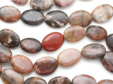 Turtle Jasper Oval Tabular Gemstone Beads 25mm (GS1403)
