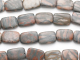 Picasso Jasper Rectangular Tabular Gemstone Beads 22mm (GS1417)