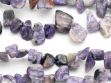 Charoite Nugget Chip Gemstone Beads 8-20mm (GS1387)