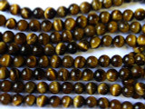 Tiger Eye Round Gemstone Beads 6mm (GS1370)