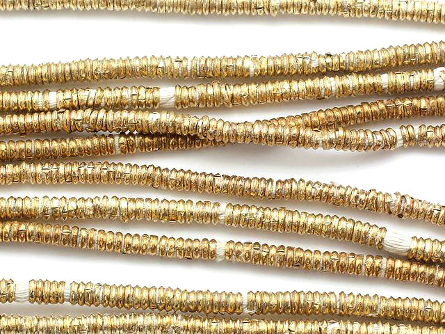 84 Ethiopian Bead Brass Disks Africa Loose 122694
