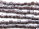 Lavender Triangular Glass Beads 6-7mm (JV246)