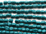 Teal Triangular Glass Beads 5-6mm (JV249)
