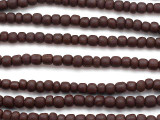 Brown Glass Beads 4-6mm (JV168)