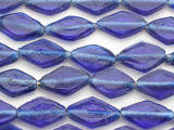 Blue Diamonds Recycled Glass Beads - Indonesia 23-25mm (RG371)