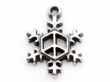 Peace Snowflake - Pewter Pendant (PW559)
