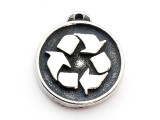 Recycle Symbol - Pewter Pendant (PW564)