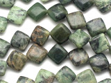 Jade Diamond Tabular Gemstone Beads 12mm (GS1634)