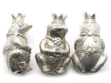 Silver Plated Royal Frog Amulet - Indonesia 48mm (AP824)