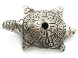 Silver Plated Brass Turtle Amulet 52mm (AP825)