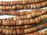 Old Bauxite (Pipestone) Disc Beads 6-8mm (OS24)