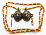 Double Headhunter Pendant Necklace - Nagaland (NP165)