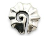 Maori Fan Spiral - Pewter Pendant (PW319)