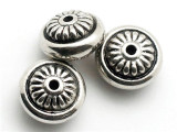 Donut, Silver Metalized Plastic Bead 15mm (MP13)