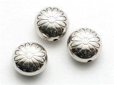 Flower, Silver Metalized Plastic Bead 15mm (MP15)