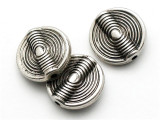 Ethnic, Silver Metalized Plastic Bead 16mm (MP18)